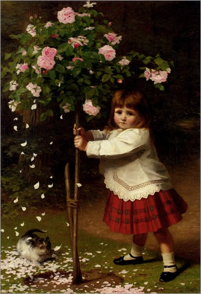 plagues_of_the_garden-James Hayllar (1829-1920, english)