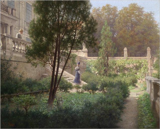 Raimund Ritter von Wichera(1862–1925)Abschied im Schlosspark