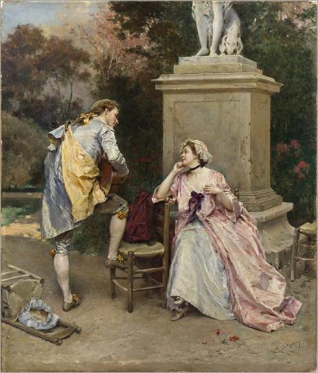 Raimundo de Madrazo y Garretta (1841 - 1920) - The Serenade