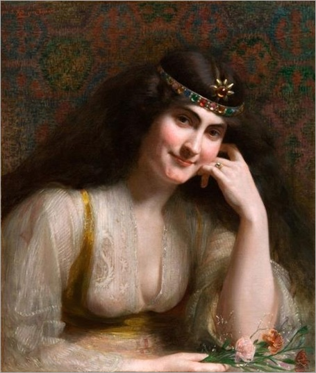 Severo Rodriguez Etchart (argentinian, 1865-1903) - Arab Beauty