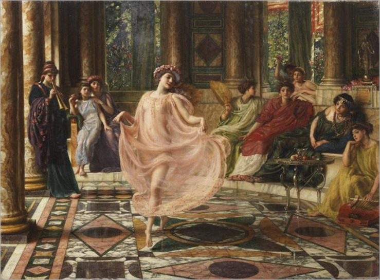 Sir Edward John Poynter (1836-1919) The lonian Dance