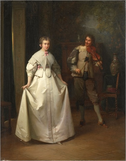 The Dance by Aimé Gabriel-Adolphe Bourgoin, 1870 France