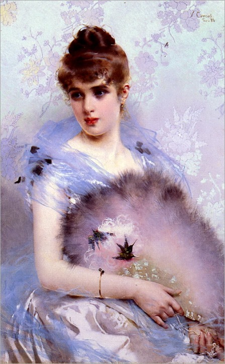 The Feathered Fan- 1894-Vittorio Matteo Corcos (italian painter)