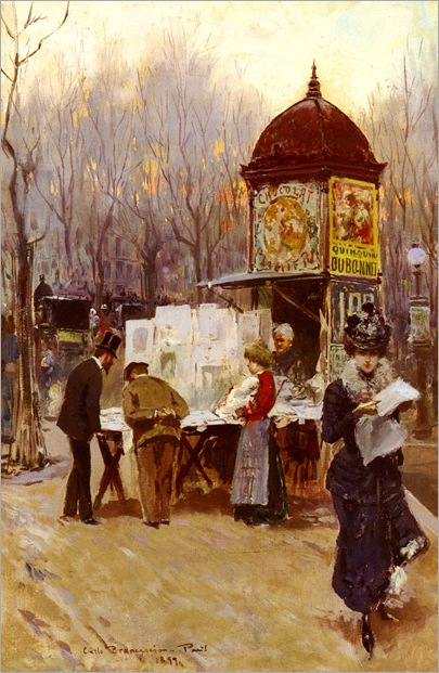 The Kiosk, Paris - Carlo Brancaccio-1899