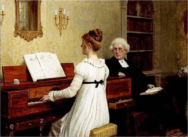 the-piano-lesson-Blair-Leighton