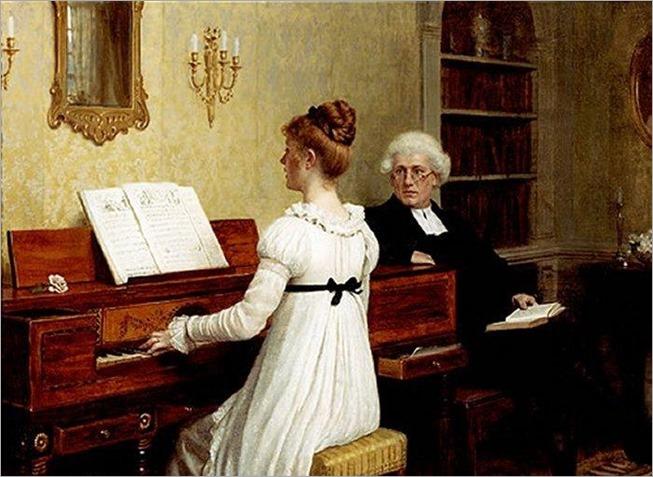 the-piano-lesson-Blair-Leighton