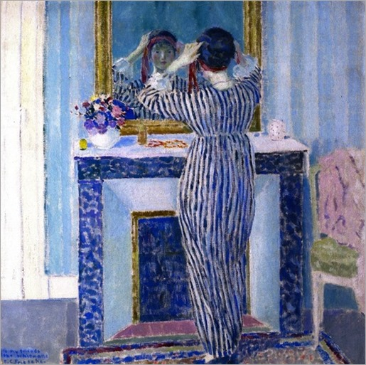 The Red Ribbon, Frederick C. Frieseke