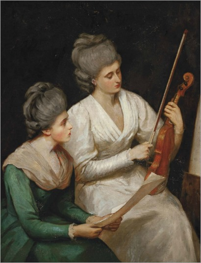 William Frederick Yeames - The Music Lesson