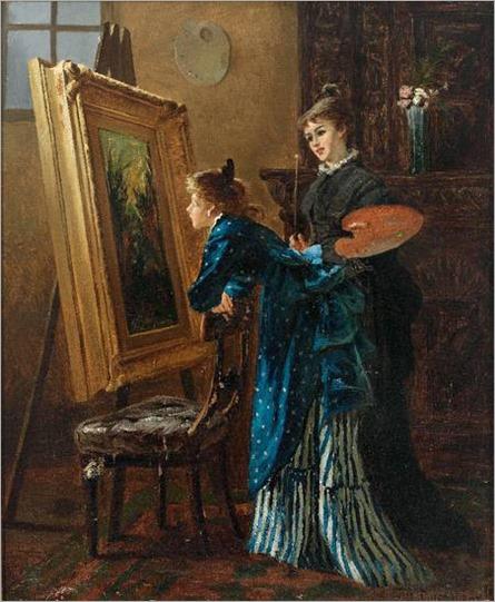William Jacob Rosenstand (Copenhague, 1838 - 1915) Alunas da Academia em Copenhague