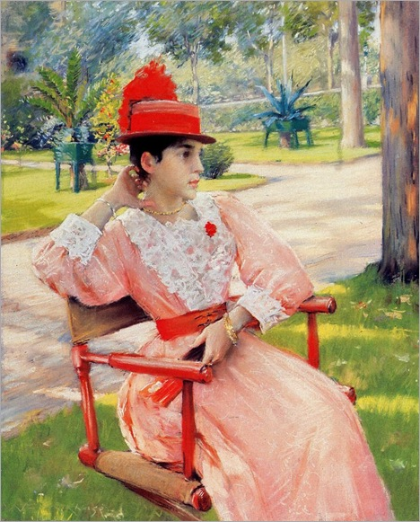 William Merritt Chase (1849-1916) Afternoon in the Park 1887 (2)