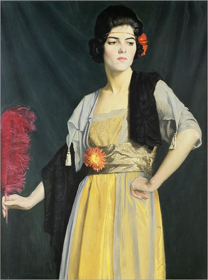 William Strang - The Feather Fan (1910)