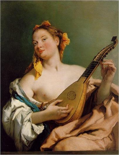 1.Girl with a Mandolin (1755-60). Giovanni Battista Tiepolo (Italian, 1696-1770)