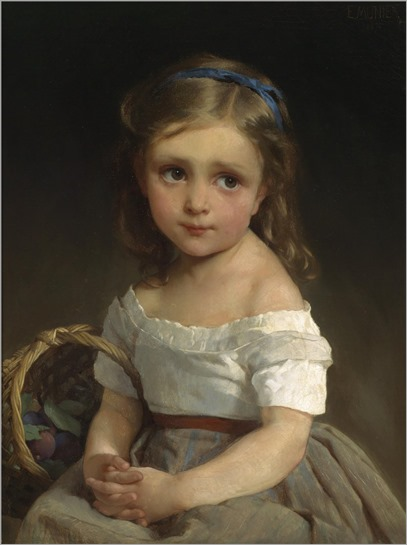 15.girl of a basket of plums - Emile Munier