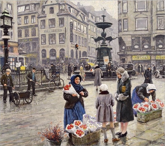 A bunch of red tulips - Paul-Gustave Fischer