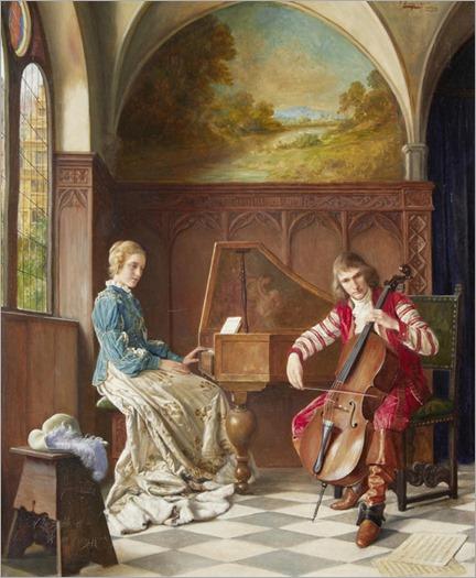 A Musical Duet. Erwin Eichinger (Austrian, 1892-1950)