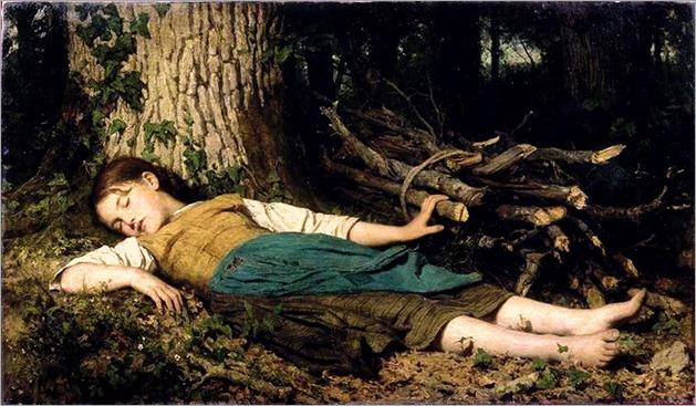 Albert Anker (1831-1910) - In the woods