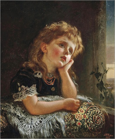 Alfred Fowler Patten (British, 1826 - c.1888)-The child and the star-1882