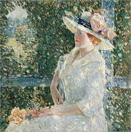 An Outdoor Portrait of Miss Weir - Childe Hassam