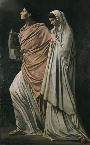 Anselm Feuerbach. Orpheus and Eurydice. 1869
