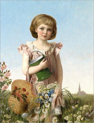 Antonie Boubong (1842-1908) A Young Gardener