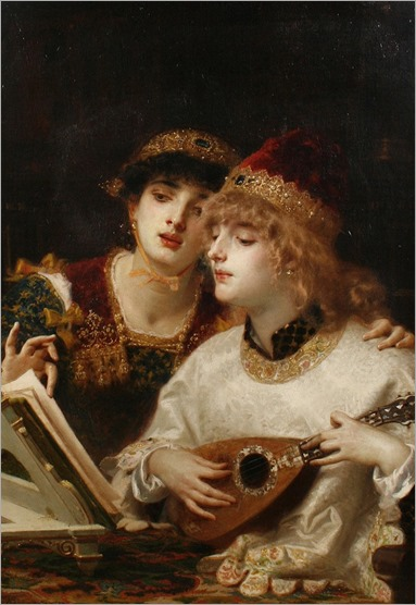 Antonio Barzaghi-Cattaneo (1831 - 1922) - The musical accompaniment