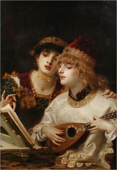Antonio Barzaghi-Cattaneo (1831 - 1922) - The musical accompaniment