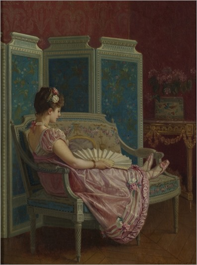 Auguste Toulmouche (french, 1829-1890) - Idle thoughts