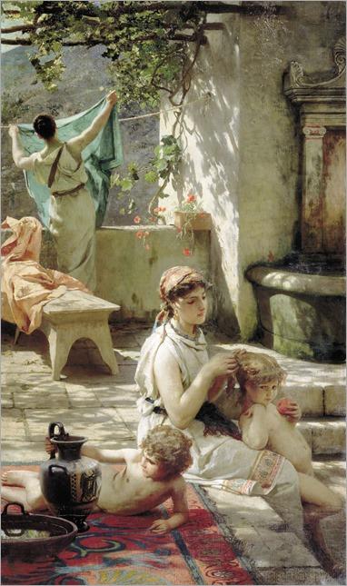 By A Pool by Henryk Siemiradzki, 1895