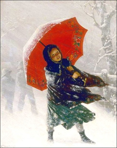 Carl Kronberger - girl in the snow