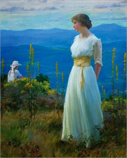 Charles Courtney Curran (American 1861-1942)-faraway thoughts