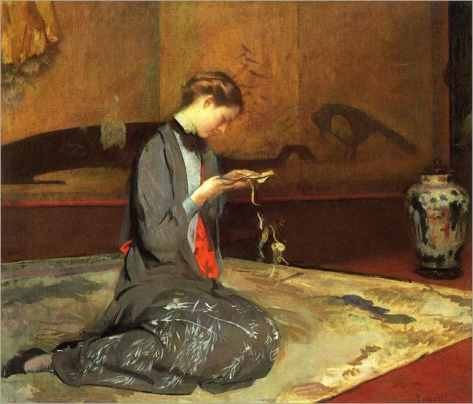 Cutting Origami -1908- Edmund Charles Tarbell (american painter)