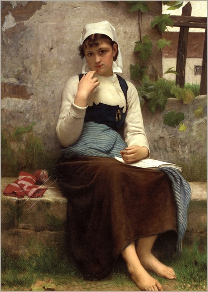 Delobbe_Francois_Alfred_(french, 1835-1920) Jeune_Fille_de_Concarneau_1883