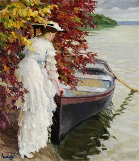 Edward Cucuel, Woman with Boat