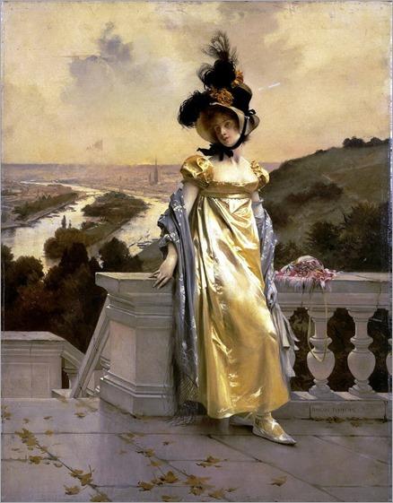 François Flameng, Portrait of a Woman, (1890s)