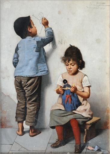 Giulio del Torre_Playing Children