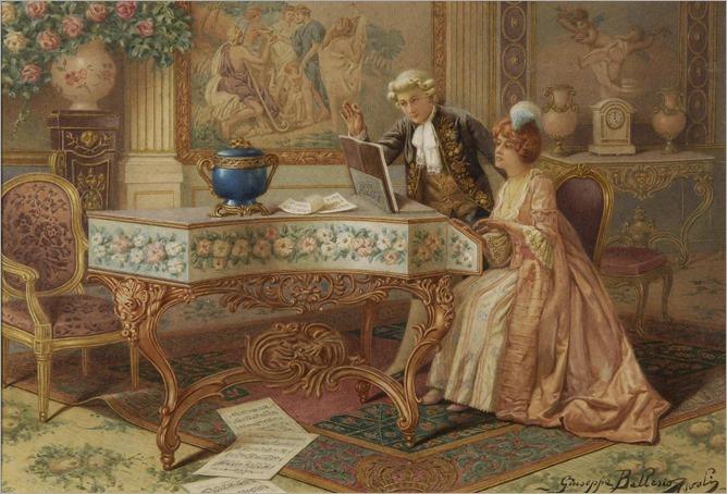 Giuseppe Ballesio, XIX century, The duet