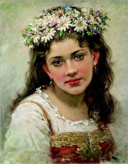 Head of the Girl, 1889-Makovsky