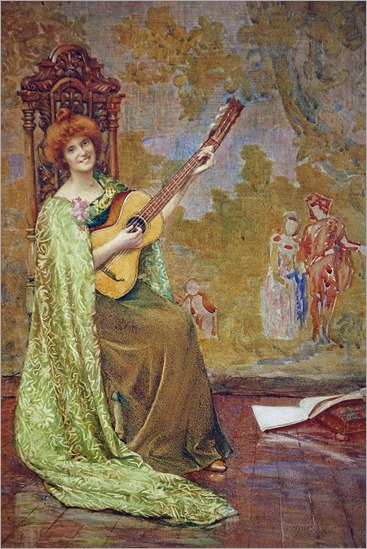 Henry Meynell Rheam(1859-1920) - The Guitar Player 1904