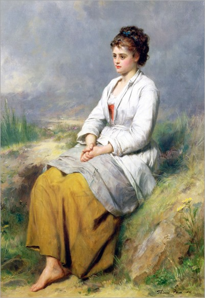 Highland Lassie - Thomas Faed-1871