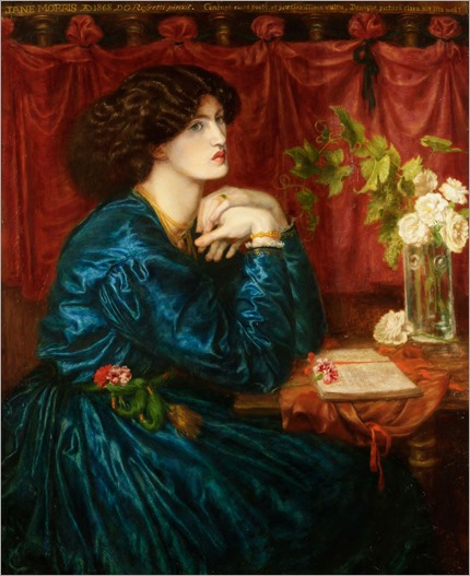 Jane Morris (The Blue Silk Dress) -1868 - Dante Gabriel Rossetti (preraphaelite painter)