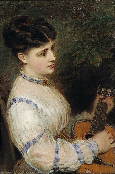 Jerry Barrett (1824-1906)- Sweet Harmony 1860