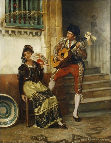 John Haynes Williams (British, 1836-1908)-The serenade