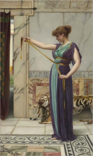 John William Godward-the-pompeian-girl