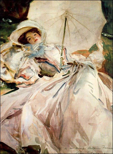 Lady with Parasol - 1900 - John Singer Sargent (american painter)