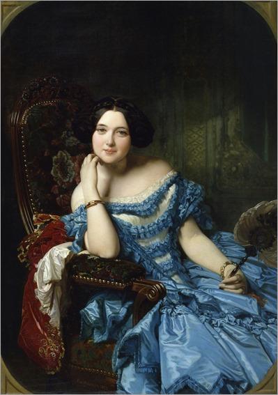 Madrazo y Kuntz, Federico_ Amalia de Llano y Dotres, condesa de Vilches 1853