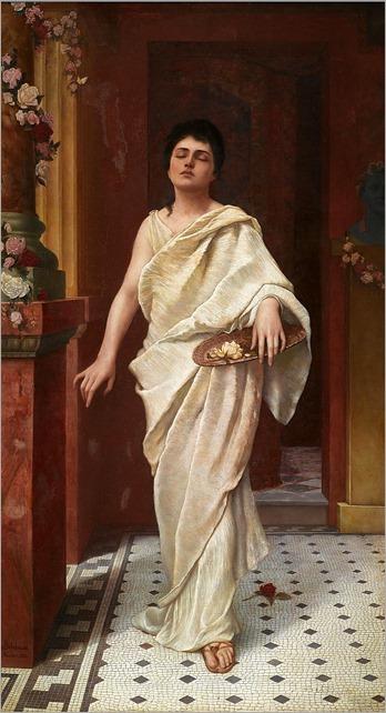 maiden in a classical interior - Cuno von Bodenhausen
