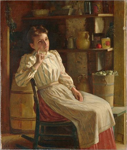 MEDITATION-by-John George Brown (1831-1913)