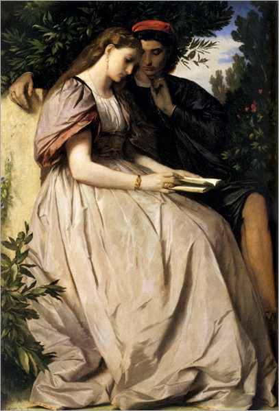 Paolo and Francesca (1863). Anselm Friedrich Feuerbach (German, 1829-1880)