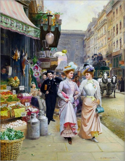 parisian street scene-Basile Lemeunier
