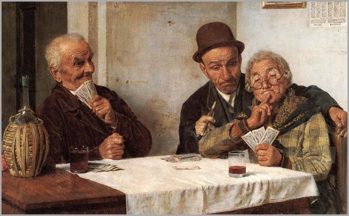 PARTITA A CARTE - Gaetano Bellei (Italian, 1857-1922)